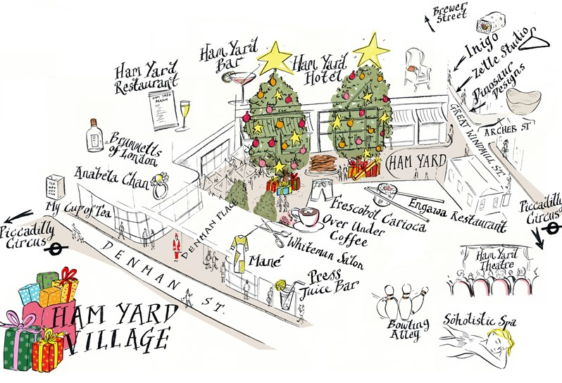 Ham Yard Village: Christmas Shopping