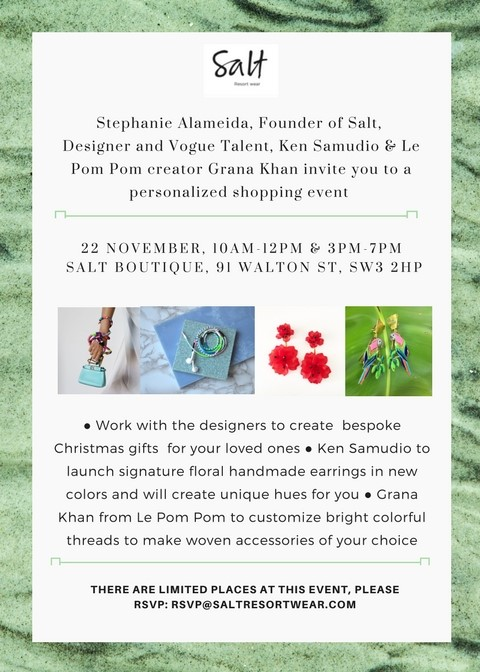 Salt Resort Wear: Personalised Shopping Event