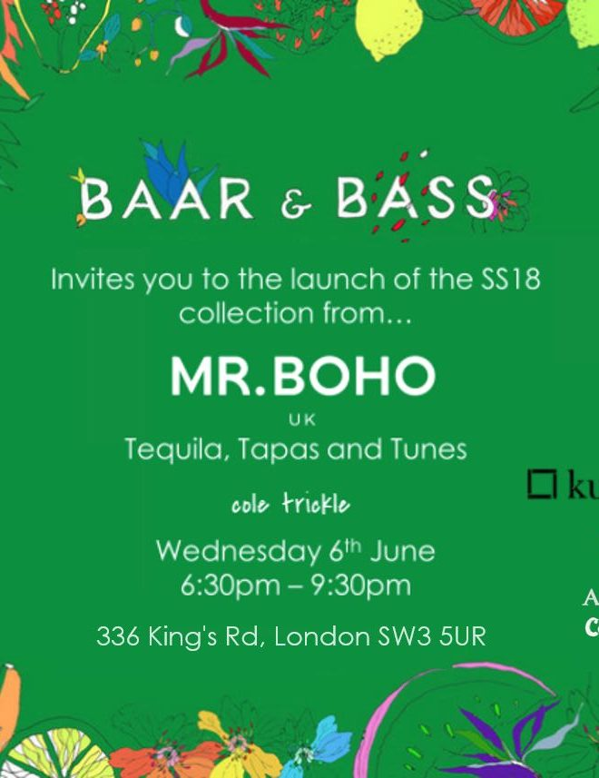 Tequila, Tapas & Tunes with Mr Boho